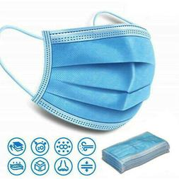 50pcs protective Face Mask Roof mouth Mask Respirator 3-Laye