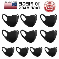 10 Pack Face Mask Reusable Washable Breathable Unisex Black