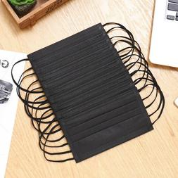 10pcs/pack Black Non WovenSpring Summer Face Mask 3/4 Layer