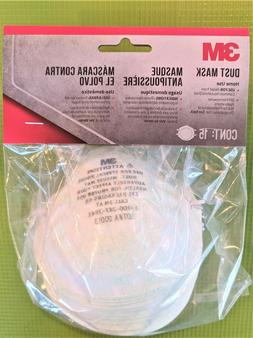 15 masks total in 1 pack 3M Face Mask Respirator Made in USA