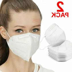 2 Pieces KN95 Face Mask Mouth Cover Medical - USA Ships ASAP