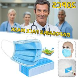 20Pcs Masks Personal Health Face-mask Breathable Mouth Cover