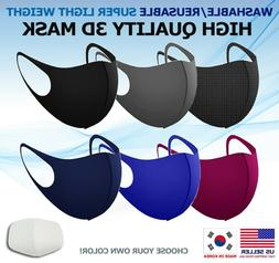 Washable, Reusable, Breathable Face Mask - Made in Korea