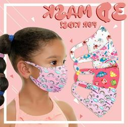 4Pack Girls Face Mask Kids Toddler Reusable Washable Cover B