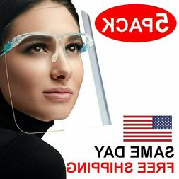 5 PCS - Face Shield Guard Mask Safety Protection With Glasse