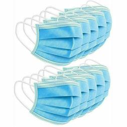 50 Face Mask Medical Surgical Dental Disposable 3-Ply Earloo