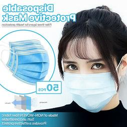 3-Ply Disposable Face Mask Non Medical Surgical Earloop Mou