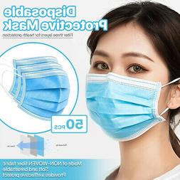 3-Ply Disposable Face Mask Medical Surgical Dental Earloop