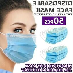 Disposable Face Mask Non Medical Surgical  3-Ply Earloop Mou