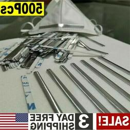 500PC Aluminum Strip Nose Bridge Wire for DIY Mask Making Ac