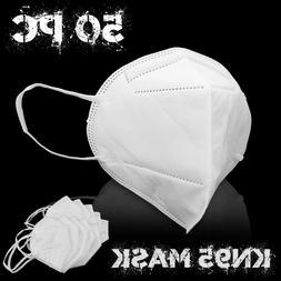 50pc KN95 Face Mask Respirator Cover 5Layer Disposable Safet
