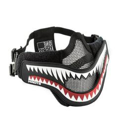 OneTigris 6 Inch Tactical X Storm Airsoft Mask Half Face Mes