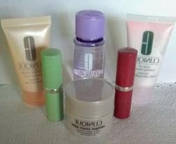 6 Piece Lot Clinique Deluxe Samples Cleanser  Lipstick Mask