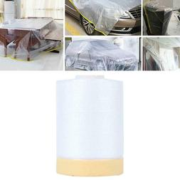 82ft Pre-Taped Masking Film Painting Protection Covering Fil