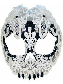 Adult's Womens Skeleton Skull Lace Masquerade Mask Costume A