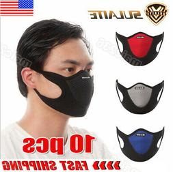 Air Purifying Face Mask Mouth Muffle Carbon Filter Anti Dust