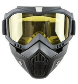 Airsoft Goggles With Detachable Mask Airsoft Safety UV400 Ha