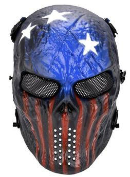 Airsoft Paintball Tactical Full Face Mask Combat Skull Skele