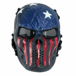 Airsoft Paintball Tactical Full Face Mask Combat Skull Game