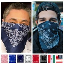 BANDANA Paisley Face Mask Head Wrap Cotton Scarf Neck Cover