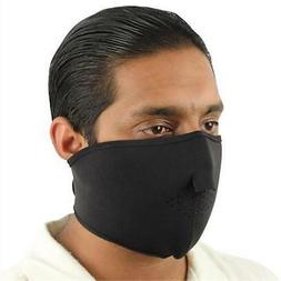 Black Half Mask - Airsoft - Paintball - Motorcycle - NEW - M