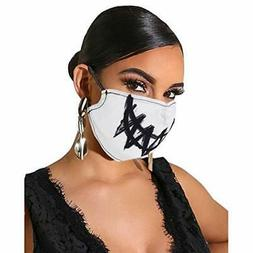 Cotton Party Face Mask Custom Washable Halloween Funny Mouth