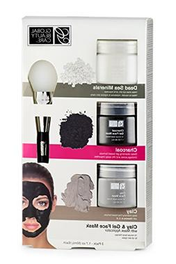 Dead Sea Minerals, Clay, Charcoal Gel Face Mask with Applica