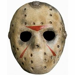 Deluxe Jason Hockey Mask Friday the 13th Adult Mens Hallowee