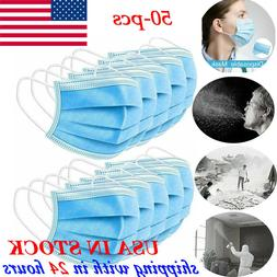 Disposable 50 Pcs Face Mask Filters Bacteria Breathable Beau