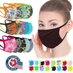 Face Mask Adult Washable Made in USA, Fabric Mask Facemask w