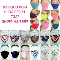 face mask double layer fashion protection reusable