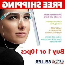 Face Shield GLASSES Mask Protector Anti Fog Safety Reusable