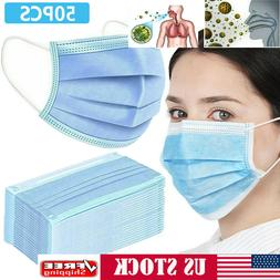 FDA 50 Disposable Face Mask Beauty Surgical Medical Masks 3p