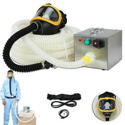 Full Face fresh Air Fed Gas Respirator Mask for Breathing Sy