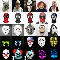Halloween Scary Adult Face Mask Costume Horror Fancy Dress P