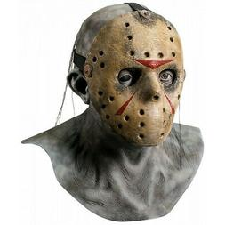 Jason Voorhees Mask Mens Deluxe Friday The 13th Costume Mask