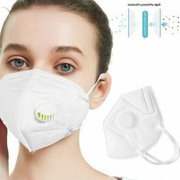 KN95 Face Mask Mouth Cover Medical With Valve - USA Ships AS