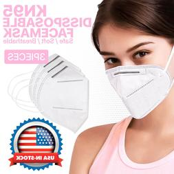 KN95 Face Mask Protective Respirator Cover Air Filter Safety