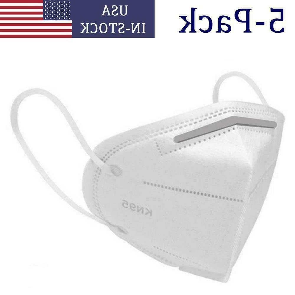 1pc 5pc - KN95 Face Layer Mouth Cover - Fast