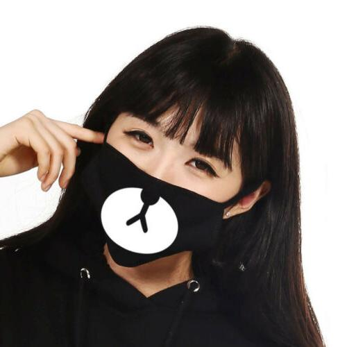 3PCS Cute Cartoon Mask Mouth Face Anti-Dust Unisex