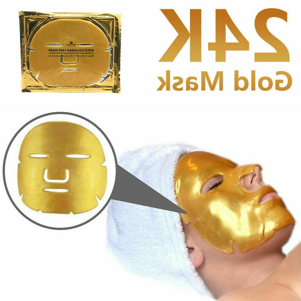 24K Gold Collagen Facial Face Mask Aging Remove Wrinkle Patch