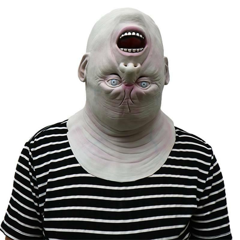 Halloween 3D Realistic Head Mask Reverse Alien Zombie Scary
