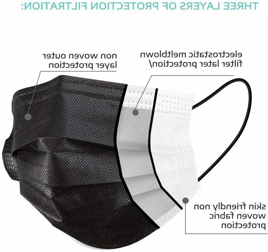 MADE IN USA PCS BLACK Face Mask Mouth Protector Masks