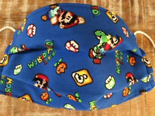 face mask adult small super mario bros