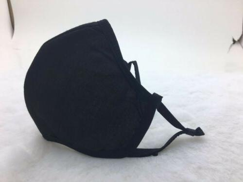 face mask black washable mouth cover protection