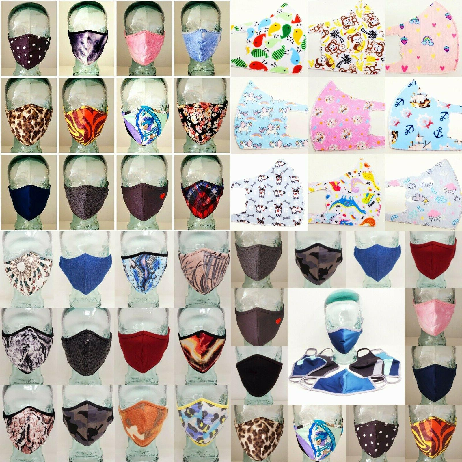 Face Mask Double Layer Fabric Protection Washable Unisex Printed Masks