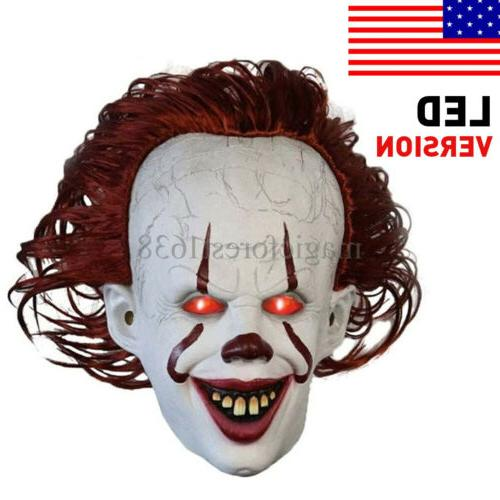 horror scary clown pennywise it full mask