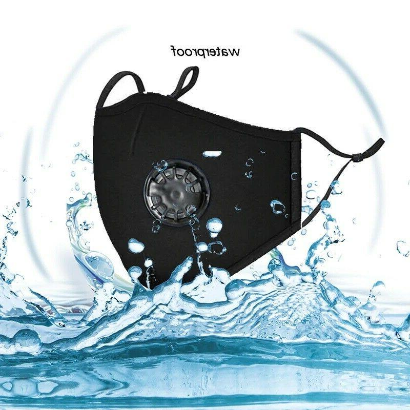 Reusable Cloth Face Mask Breathing PM2.5 Filters