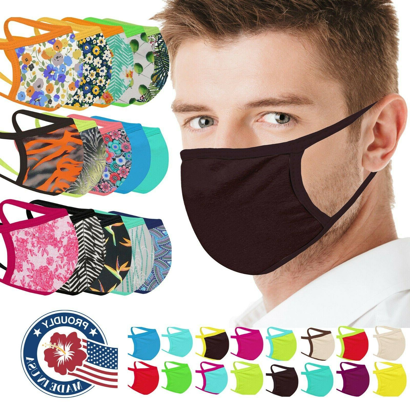 Face Mask Adult Washable Made in USA Fabric Mask Facemask wa