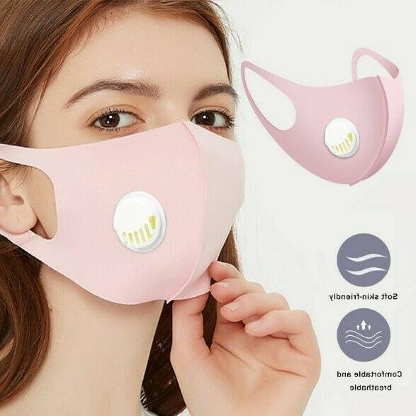 Reusable Washable Soft Cloth Mask With Valve